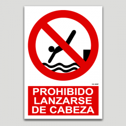 Prohibit llançar-se de cap