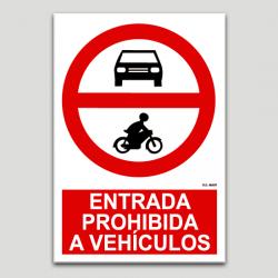 Entrada prohibida a vehículos