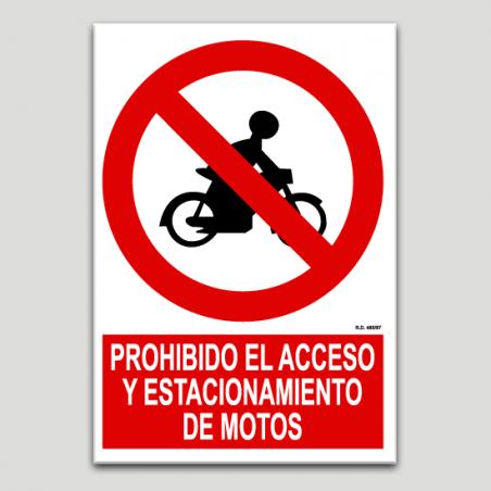 Prohibit l'accés i estacionament de motos