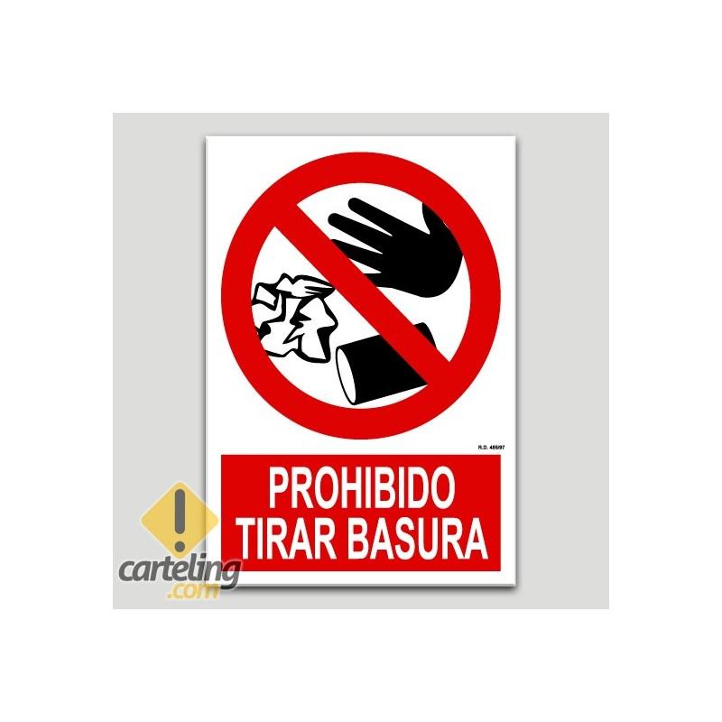 Prohibido tirar basura