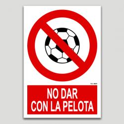 No picar amb la pilota