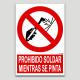 Prohibido soldar mientras se pinta