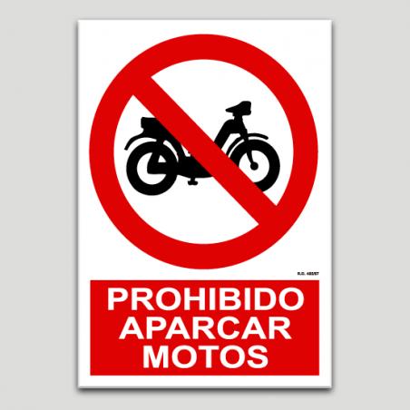 Prohibido aparcar motos