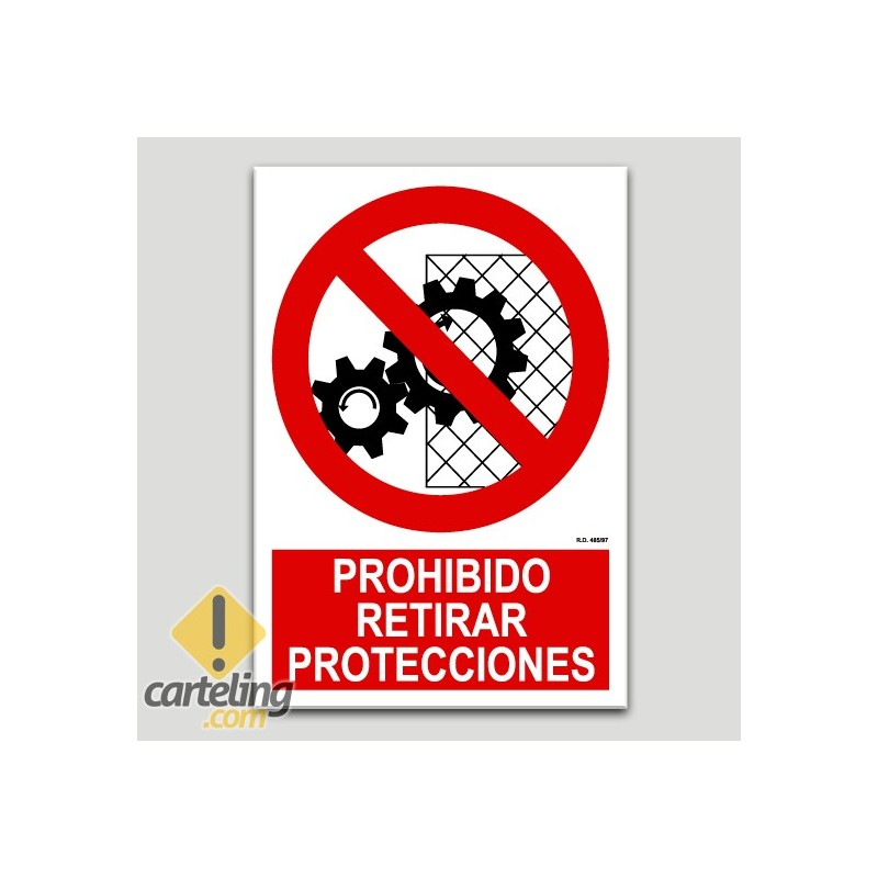 Prohibit retirar proteccions