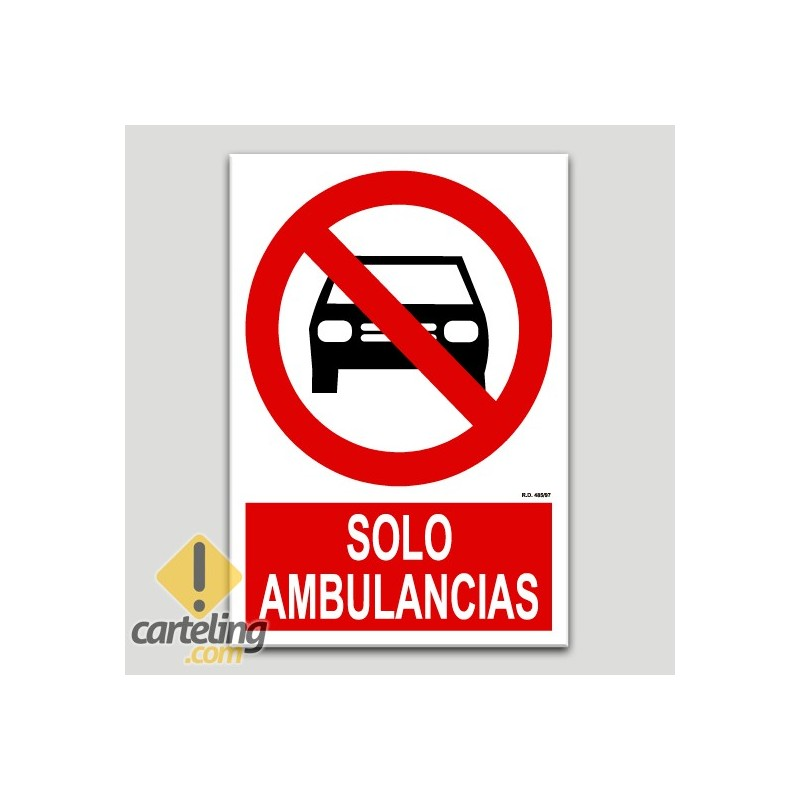 Solo ambulancias