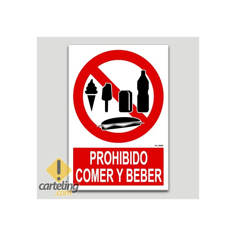 Prohibit menjar i beure