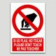 Por favor no tocar - español, ingles, francés