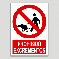 Prohibido excrementos