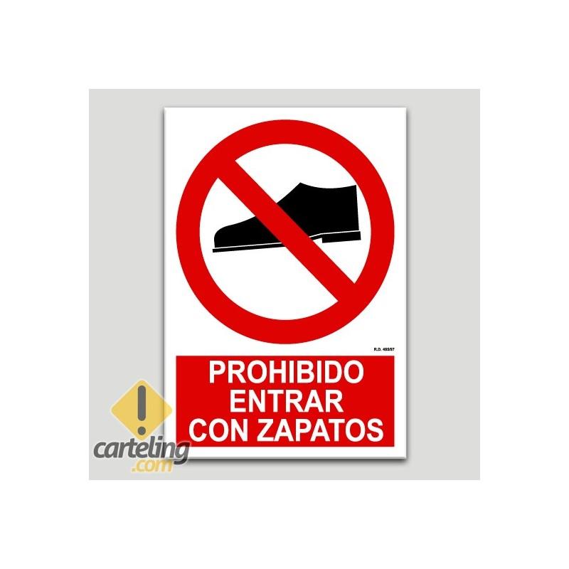 Prohibit entrar amb sabates