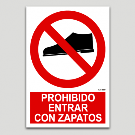 Prohibit entrar amb sabates