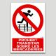 Prohibido transitar sobre mercancías