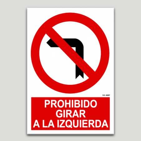 Prohibit girar a l'esquerra