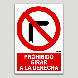 Prohibit girar a la dreta