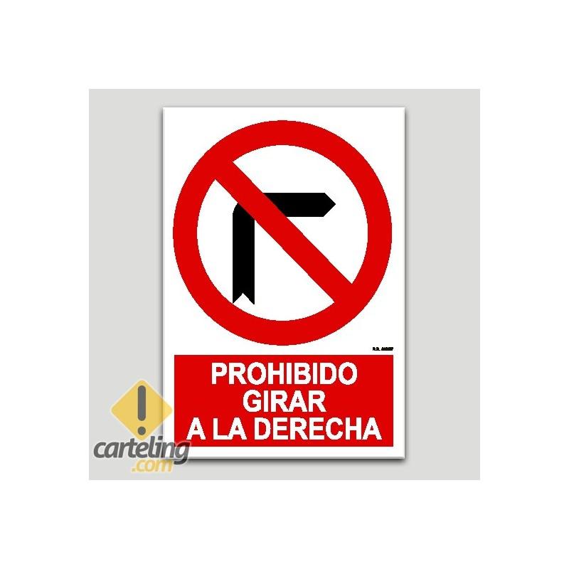 Prohibido girar a la derecha