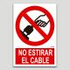 No llençar del cable