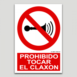 Prohibit tocar el clàxon