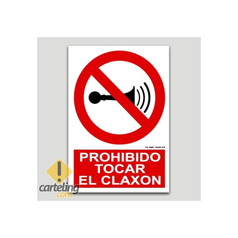 Prohibido tocar el cláxon