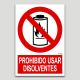 Prohibido usar disolventes