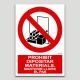 Prohibit dipositar materials, mantenir lliure el pas