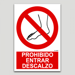 Prohibit entrar descalç