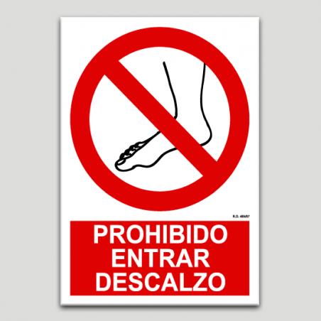 Prohibido entrar descalzo