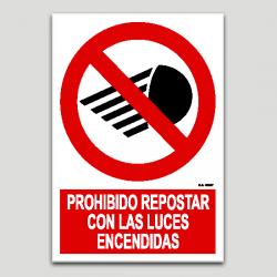 Prohibit proveir amb les llums enceses