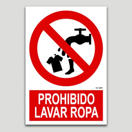 Prohibido lavar ropa