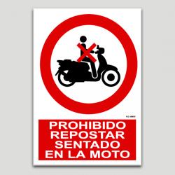 Prohibit repostar assegut a la moto