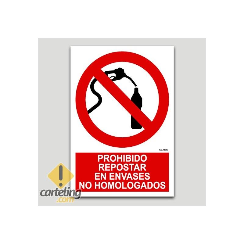 Prohibido repostar en envases no homologados