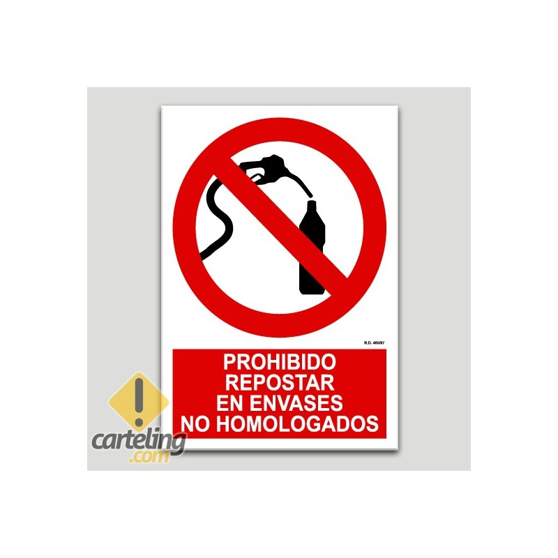 Prohibit repostar a envasos no homologats