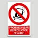 Prohibido utilizar reproductor de audio