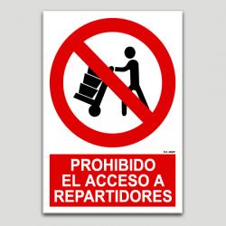 Prohibido el acceso a repartidores
