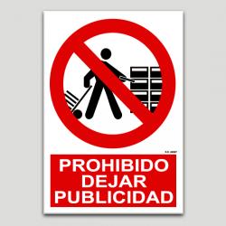 Prohibido dejar publicidad