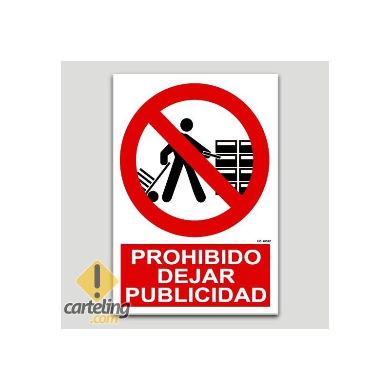 Prohibit deixar publicitat