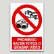 Prohibit fer fotos o gravar video