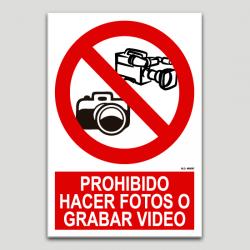 Prohibido hacer fotos o grabar video