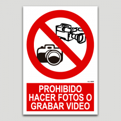 Prohibit fer fotos o gravar video