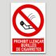 Prohibit llençar burilles de cigarretes
