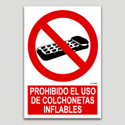 Prohibit l'ús de matalassets inflables