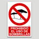 Prohibit l'ús d'ombrel·les