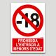 Prohibida l'entrada a menors d'edat