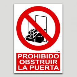 Prohibido obstruir la puerta