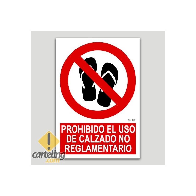 Prohibido el uso de calzado no reglamentario