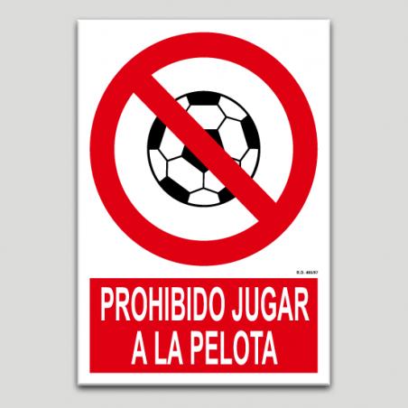 Prohibit jugar a pilota