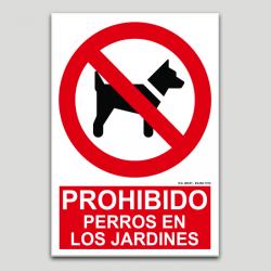Prohibido perros en los jardines