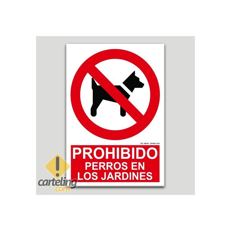 Prohibit gossos en els jardins
