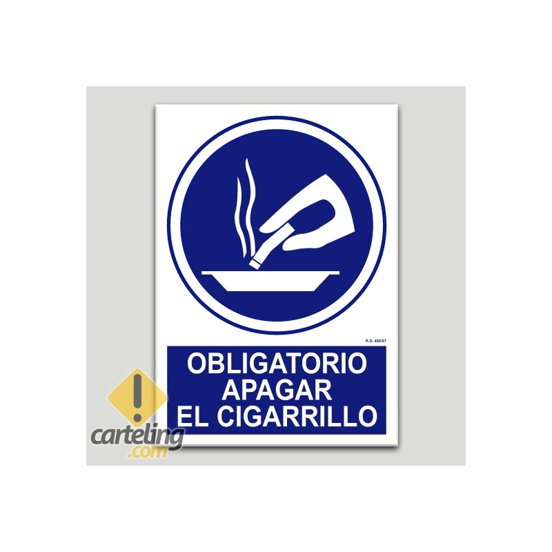 Obligatori apagar la cigarreta