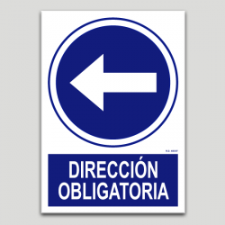 Dirección obligatoria izquierda