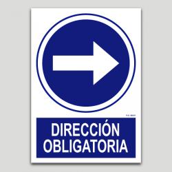 Dirección obligatoria derecha
