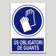 Uso obligatorio de guantes